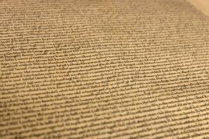 A close up of the Magna Carta Replica.
