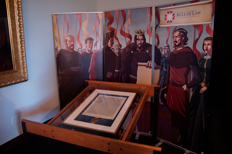 The Rule of Law Institute of Australia's replica of the Salisbury 1215 Magna Carta