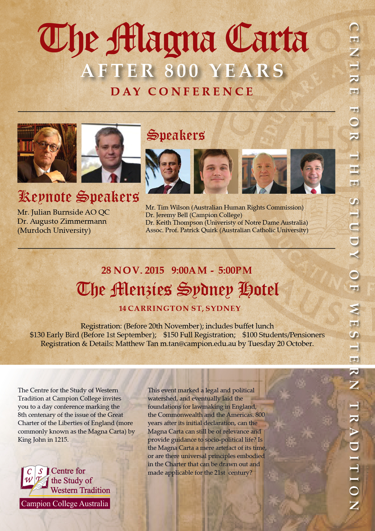 the magna carta after years day conference the magna carta  magna carta conference poster nov 20153