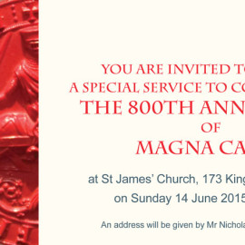 Magna Carta Church Service